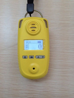Handheld H2S gas detecting alarm with high/low alarm point, Portable single H2S gas monitor