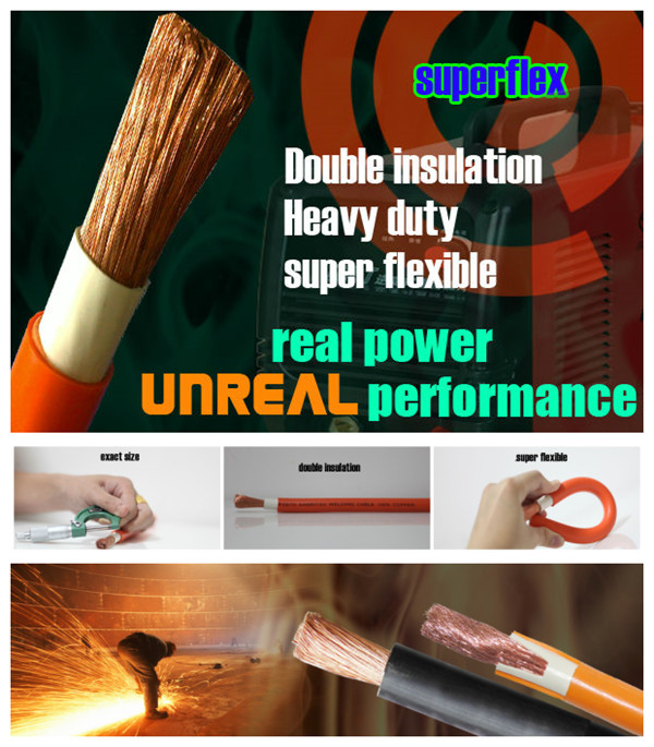 Superflex 350V/750V pvc sheath copper welding cable with pvc sheath flexible copper welding cable jewelry welding machine