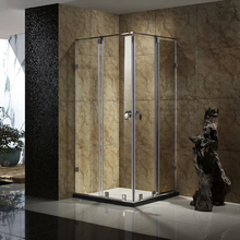 10mm smart glass 304 stainless steel portable frameless magnetic seal strip sliding shower door