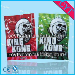 King kong mylar bag/custom printed mylar bags