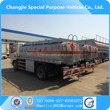 2 axles 8000 liters litres mini petrol tanker for sale 8cbm diesel type fuel tank truck dongfeng used oil trucks