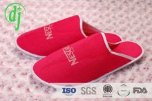 white disposable closed toe foam terry hotel slipper /towelling thong slippers