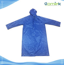 PVC raincoat Long knee length European style Adult rain poncho