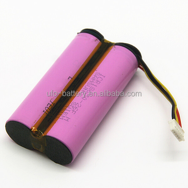 500 Life Cycle 18650 Cylindrical lithium Ion Battery Pack 3.7v 2P 5200mAh