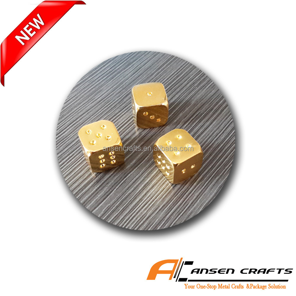 Casino Gold Metal Dices