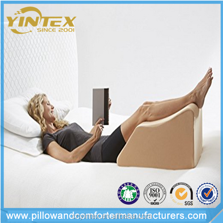 YINTEX Foam Wedge Bed Pillow for leg rest, air mesh fabric with soft feelings wedge pillows