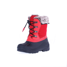 new style kids snowboots winter camo boots rubber warm snow shoes