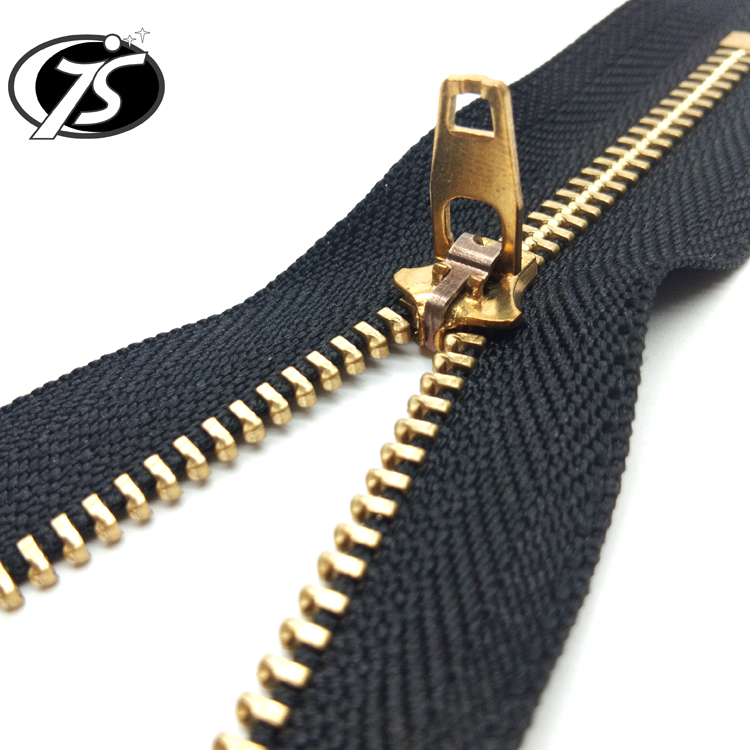 Metal zipper <strong>Y</strong> teeth for <strong>jeans</strong> auto lock gold plated best quality and price