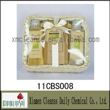 China supply eco-friendly body works relax product 3pcs vanilla bath set wholesale