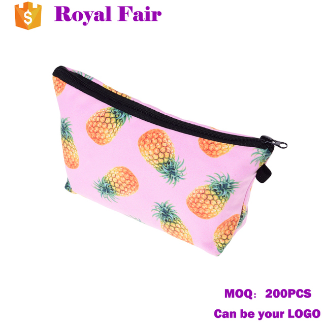 2017 Hot sale mixed color makeup case cosmetic bag with logo printing