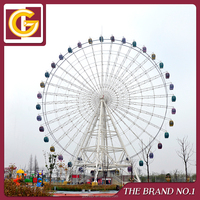 Aluminium Alloy Cabin with Air-condition 65m Large Ferris Wheel Skywheel Manufacturer