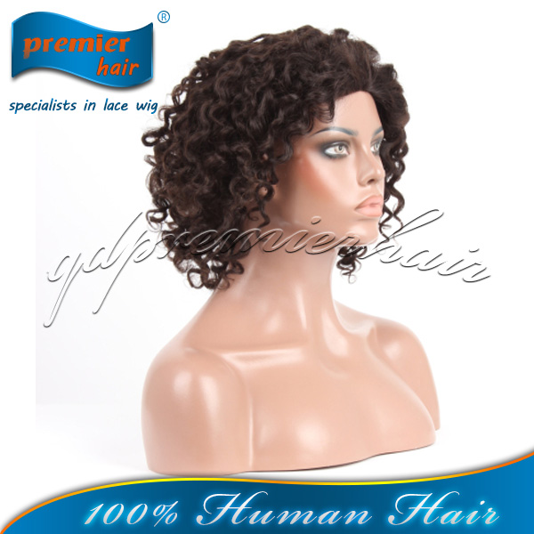 2014 new hair Hot sale candy curl Human Hair Lace Wigs, india hair wig price , indian women hair wig