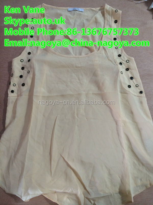 sorting bundle used clothing sleeveless t-shirt for export