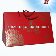 White card paper bag Machine Made Food Packaging Paper Box
