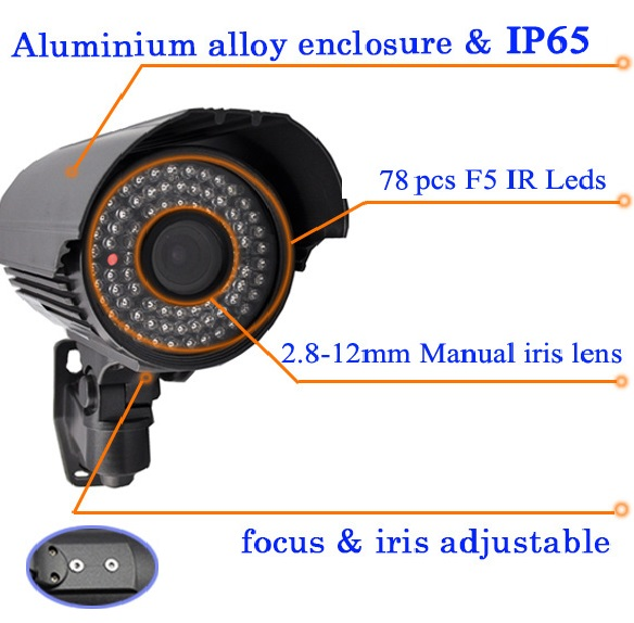 Cheap Sale 1.0Megapixel  AHD Waterproof Camera IP66
