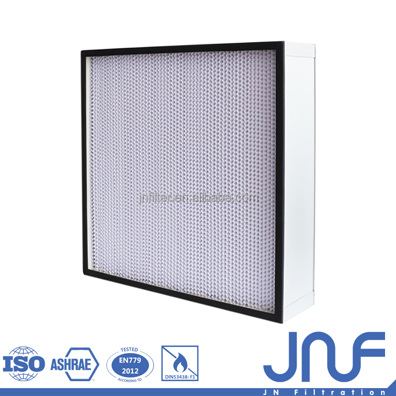 aluminum frame 24x24 washable mini pleat hepa air filter h13