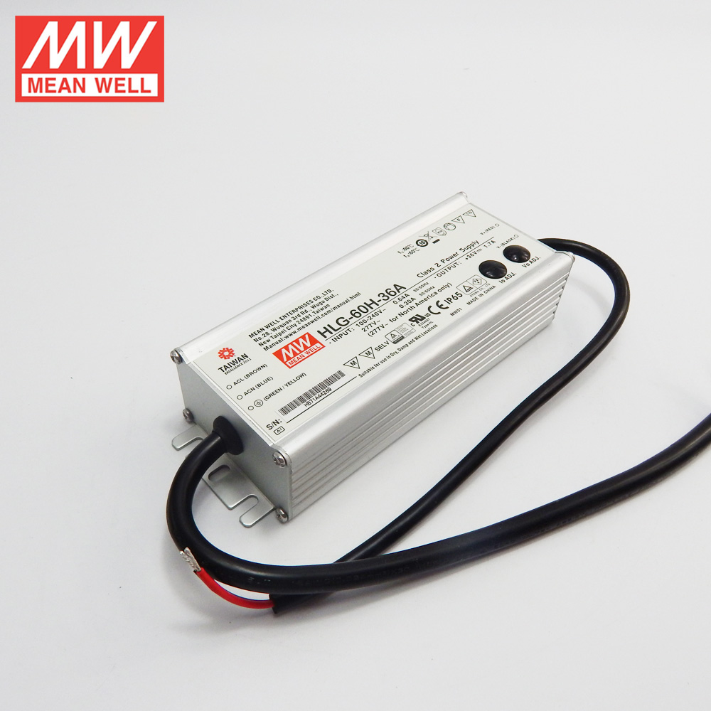Original MEAN WELL 60w led power supply 36V HLG-60H-36A