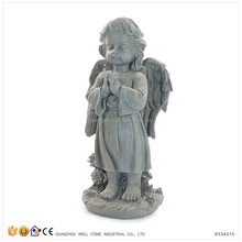 Cheap Customized Wholesale Black Angels Figurines with Praying Hands