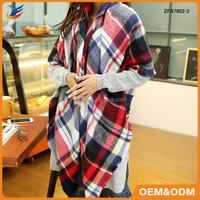 Fashion Lady Winter Wraps And Shawls Z Colorful Plaid Square Scarves Pashmina Shawl