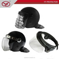 Anti riot helmet PC shield with metal frame visor