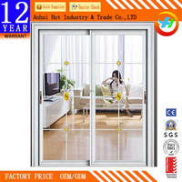 High Quality Aluminum Rail For Slide Door Factory Direct Tripe Slidng Closet Door Comfortable Beautiful Bedroom Door