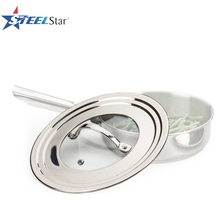 China Factory Glass combined Stainless Steel universal pot lid