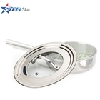 China Factory Glass lid Stainless Steel universal lid for pot