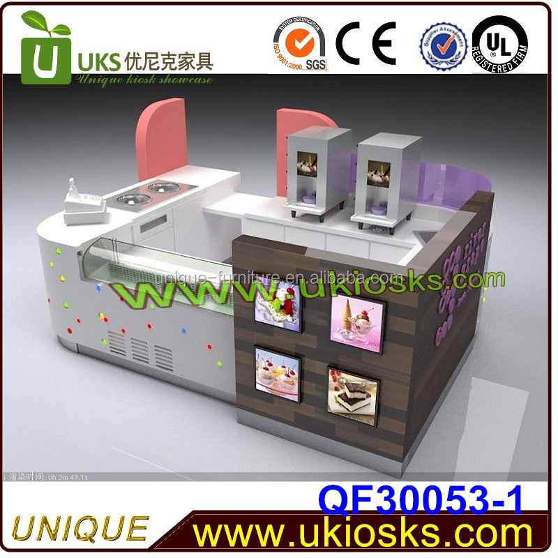 2015 high quality China mobile fryer food cart/ ice cream kiosk for selling snacks and food