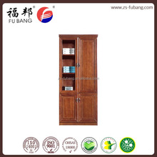 MDF wooden tall antique open shelving storage bookcase file cabinet with drawers without wheels