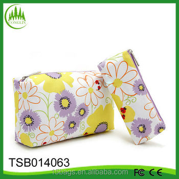 new product wholesale YiWu promotional polyester gift polyester cosmetic bag