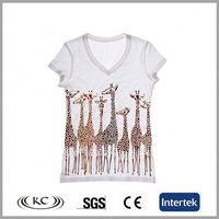 bulk wholesale good price europe white V neck lady lace t-shirts