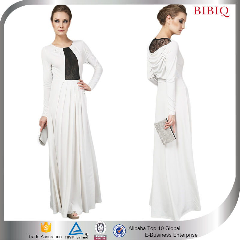 Pictures Of Latest Gown White Long Sleeve Evening Party Dresses Women