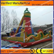 Durable climbing,inflatable wall, inflatable spiderman castle slide with safety belt