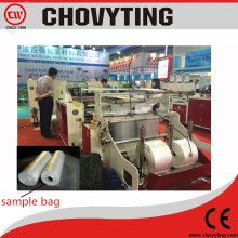 Taiwan Design Automatic Plastic PE Material Continuous Supermarket Rolling Bag Making Machine