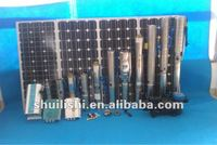 solar cell deep well pump system with liquid level switch controller