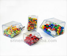 Customizing acrylic mini candy bin