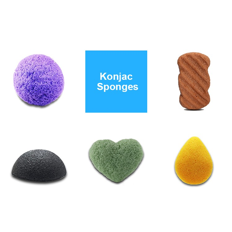 Konjac Sponge Natural Infused Konjac Body Conjac Sponge with Activated Bamboo Charcoal