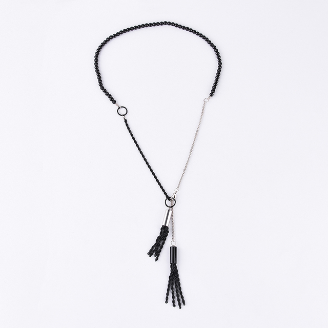 New design handmade customized decoration sweater tassel necklace