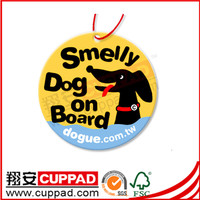 Good smell cartoon shaped hanging paper car air freshener