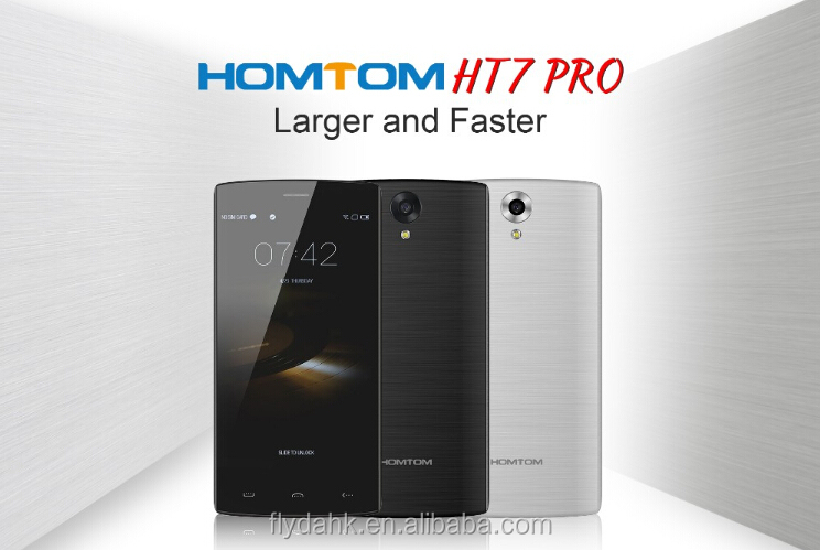 Cheapest Homtom ht7 pro 4G lte smartphone android 5.1 ht7 pro 2gb ram 16gb rom quad core dual sim card mobile phone.