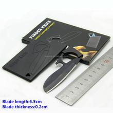 CK-420 Outdoor Portable Stainless Steel Credit Card Finger Knife/Olecranon Safety Pocket Wallet Tool