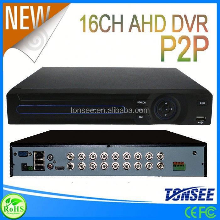 p2p ahd dvr 960p 16CH dvr net software 720p real-time recording for home security