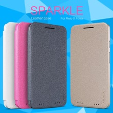 Nillkin Sparkle Flip Leather cover Mobile Phone case for Motorola MOTO X Force