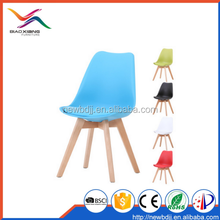 Wholesale Alibaba Express Leisure Replica Plastic Dining Chair With Wooden Legs
