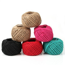 50m DIY Twisted Burlap Natural Jute String Jute Twine Colored Craft Jute Rope
