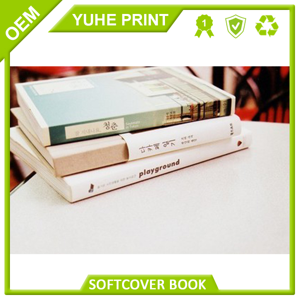 Awesome quality perfect binding shot run soft cover printing book