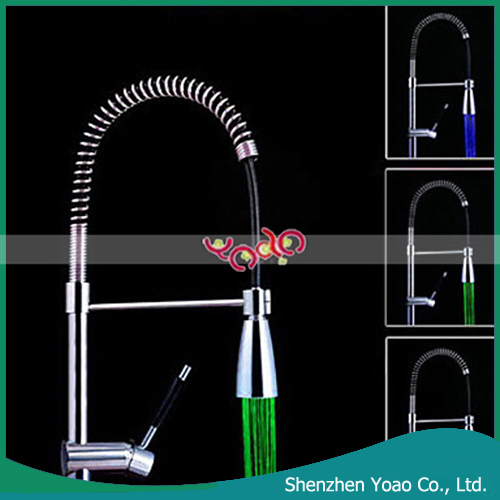 LED plastic material Chrome Finish ABS Faucet Sprayer Nozzle