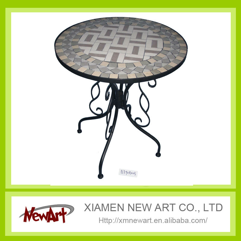 Mosaic table metal marble outdoor furniture