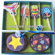 New Style Celebrations SGS Monster cupcake baking cups/picks-party cupcake liners/cupcake cup set