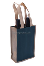 Wine-2 Bottle Tote With Print or Logo Non Woven Polypropylene Wine Bags Reusable Eco-Friendly Carrier